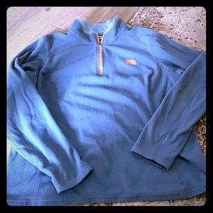 North face fleece zip pull over size XL